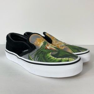COPY - Vans Classic Slip-On Dragon Flame Sneakers